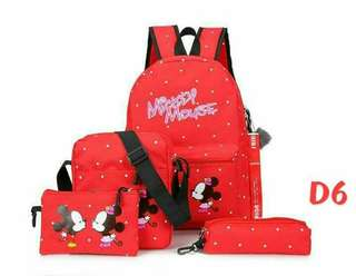 Minnie and Mickey back pack bag