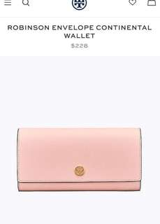 Tory Burch robinson envelope continental wallet 4️⃣colours
