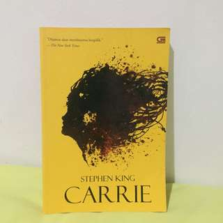 Carrie Stephen King Novel Buku Murah
