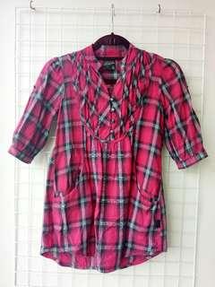 HOT PINK Checkered Shirt