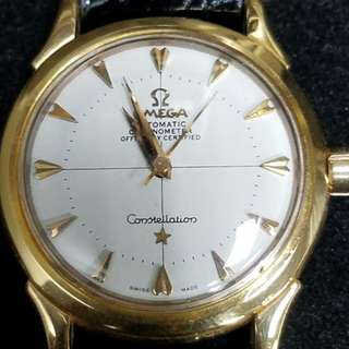 omega constellation 18k gold watch