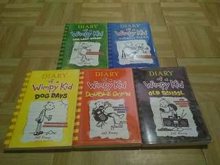 Diary of a Wimpy Kid 5 Books