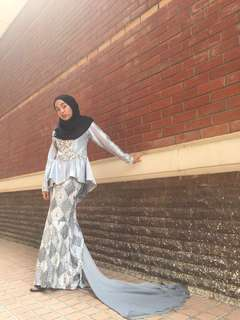 Baju Kurung Peplum Nikah / Raya / Sanding