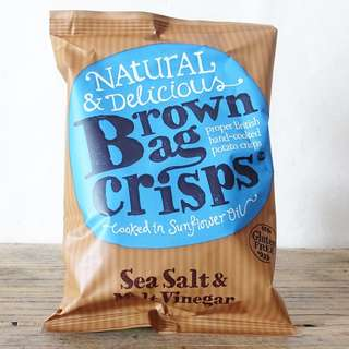 海塩麦芽醋味薯片 Brown Bag Crisps Sea Salt and Malt Vinegar 40g
