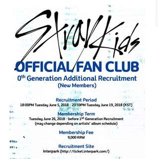 Stray Kids Official Fanclub 0th Generation