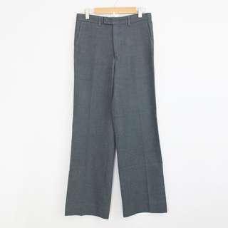 Vintage High-Waisted Gray Wide Leg Straight Pants