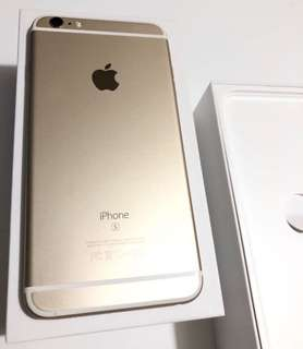 iPhone 6s plus 128gb  gold  金色