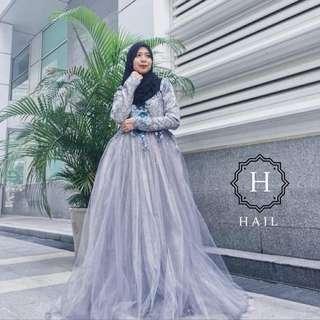 Dress Songket Tutu Dinner/ Wedding