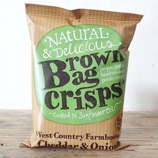 車打芝士洋蔥味薯片 Brown Bag Crisps Cheddar and Onion 40g