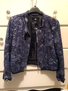 [RAYA SPECIAL] H&M Bomber Jacket with Silver Studs