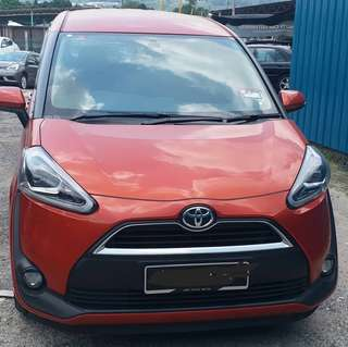 SAMBUNG BAYAR/CONTINUE LOAN  TOYOTA SIENTA 1.5 AUTO YEAR 2017 MONTHLY RM 1400 BALANCE 8 YEARS ROADTAX VALID CONDITION NEW  DP KLIK wasap.my/60133524312/sienta