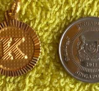 """Letter """"K"""" Locket - Gold 916 ❤️❤️"""