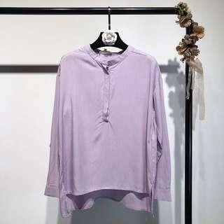 2018 long-sleeved round neck loose shirt shirt shirt shirt