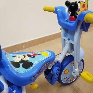 米奇老鼠摺合式三輪車