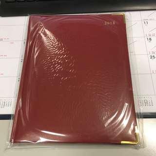 2018年手全新帳行政紅色記事簿筆記本世界地圖日誌 Brand New Red Executive Diary Schedule Scheduler Calendar World Map Year 2018