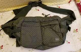 日本Porter綠色白點腰包/Body bag