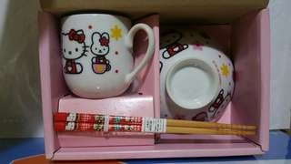 Hello Kitty 陶瓷抔碗筷子套餐