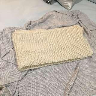 ⭐️ Cream Chunky Knit Long Scarf