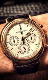 江詩丹頓計時秒表 - 18k黃金