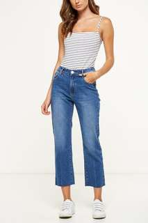 💖 Cotton On Mid Rise Straight Crop Stretch Jean
