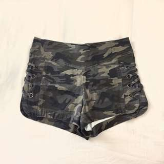 Camo Lace Up Shorts