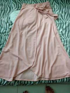 maxi skirt nude color