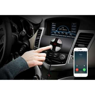 Car Bluetooth FM Transmitter Charger  -  SILVER AND BLACK - 車載 免提 Mp3 藍芽播放器 - S2601