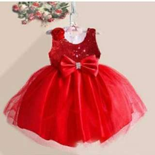 Party dress red mewah