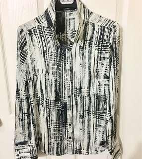 Matrix White and Black Polo Long sleeveless