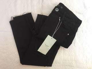 BERSHKA HW Pants Black