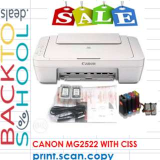 SALE!!!! BNEW Canon MG2522 (3-in-1 Printer) with ciss