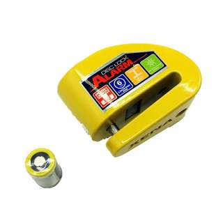 Xena Motorcycle Security Disc Lock Alarm XZZ6L Scooter Series Yellow