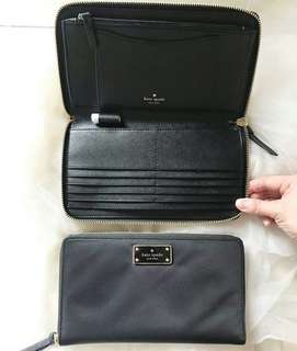 Kate Spade Wilson Road Kaden Large Travel Wallet sz 22x12 Black