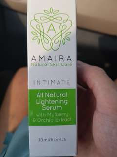 Amaira all natural lightening serum