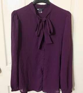 Ribbon Purple/violet Polo long sleeves