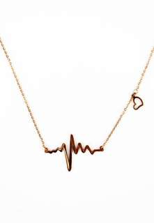 Heartbeat Love 18K Gold Plated Necklace