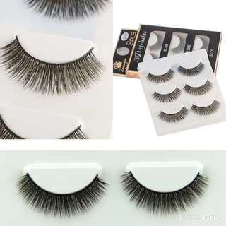 3 Pairs/Set 3D FashionWomen's Makeup Beauty Cosmetic Eye Lashes Long Thick Fake Eyelash False Eyelashes