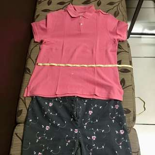 Plus size shirt and pants combo