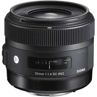 Sigma 30mm f/1.4 DC HSM Art Len