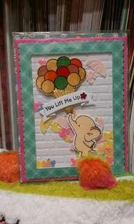 Handmade Shaker card with envelope