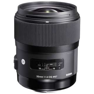 Sigma 35mm f/1.4 DG HSM Art Lens