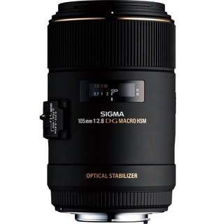Sigma 105mm f/2.8 EX DG OS Macro Lens