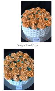 Flowers in the basket Cake