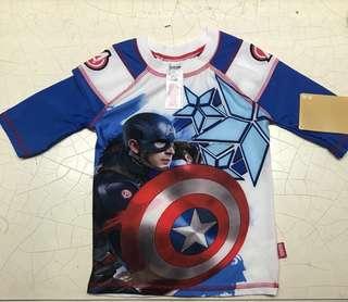 Captain America Rashguard 5-6T