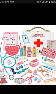 Brand new kids toddlers children doctor dentist play set wooden wood
