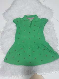 dress hijau baby gap