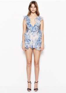 Alice McCall blue Playsuit floral size 8