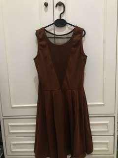 Brown sexy dress