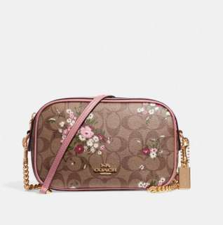 Coach Isla Crossbody in signature canvas with floral bundle print