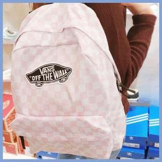 Vans backpack icecream pink Vans 背包(粉白格仔雪糕色)
